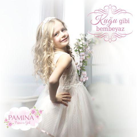 Prensesiniz adeta kuğular gibi hissedecek... :)  She feels like swan!  #springsummer2015 #childrens #kids #childrenswear