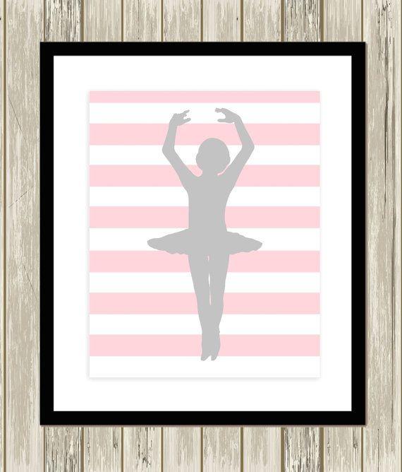 Polkadot nursery dance nursery art ballerina door PicabooArtStudio