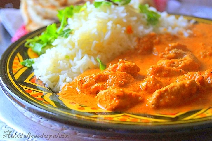 Recette poulet à l'indienne (Butter chicken)