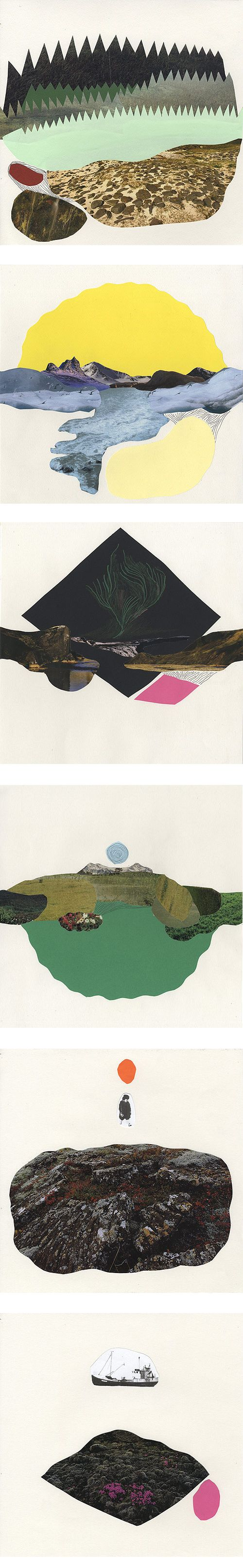 Iceland inspired collage by Tom Edwards Via THE ART CAKE
