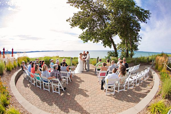 Lake Michigan Beach Wedding At Cafe Manitou The Homestead Resort Glen Arbor Rayan Anastor Photography Photo