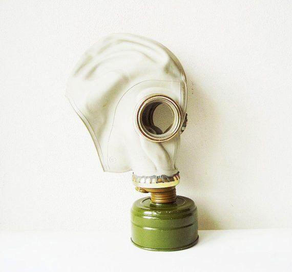 Russian Gas Mask GP 5 with Bag Soviet Vintage by MerilinsRetro, $19.00