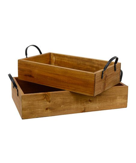 DIY inspiration-Leather Handle Pinewood Tray