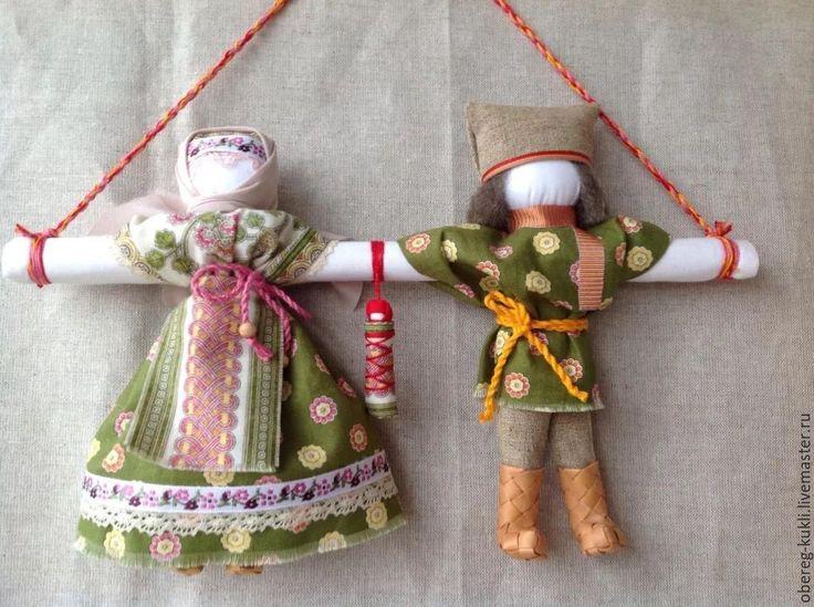 """Купить """"Неразлучники""""по мотивам Народной куклы - обережная кукла, кукла оберег, кукла ручной работы"""