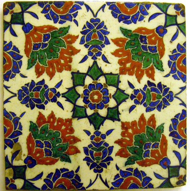 tile; Ottoman dynasty; 16thC(late); Iznik