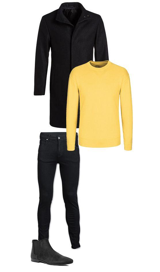 die besten 25 gelber pullover ideen auf pinterest gelbe jeans gelbe outfits und gelbes jeans. Black Bedroom Furniture Sets. Home Design Ideas
