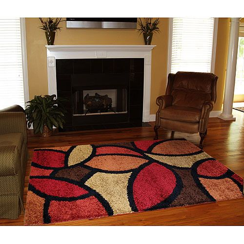 Orian Shag Bloompetal Rug Rouge I Reeeally Like This One