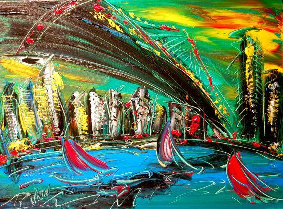 BROOKLYN BRIDGE  ORIGINAL X Large gallery wrap canvas by kazavart
