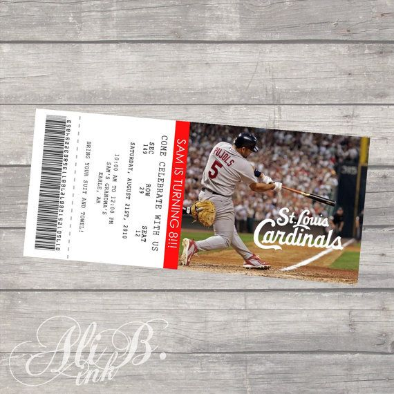 8 best Cole is turning 8! images on Pinterest Baseball mom - printable event tickets
