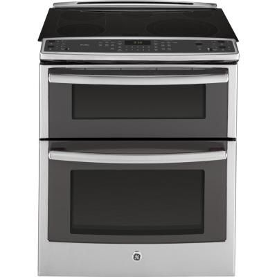 GE Profile 6.6 cu. ft. Slide-In Double Oven Electric Range with Convection (Lower Oven) in Stainless Steel-PS950SFSS - The Home Depot