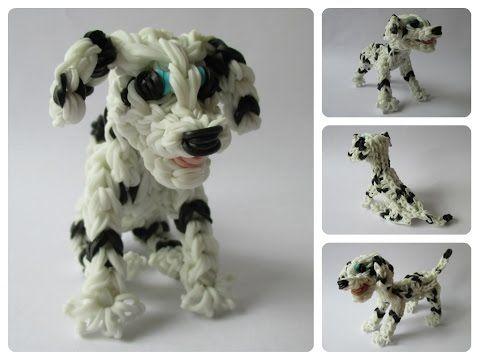 Rainbow Loom dalmatian - dalmatiër - MARSHALL puppy Part 1/2 Loombicious - YouTube