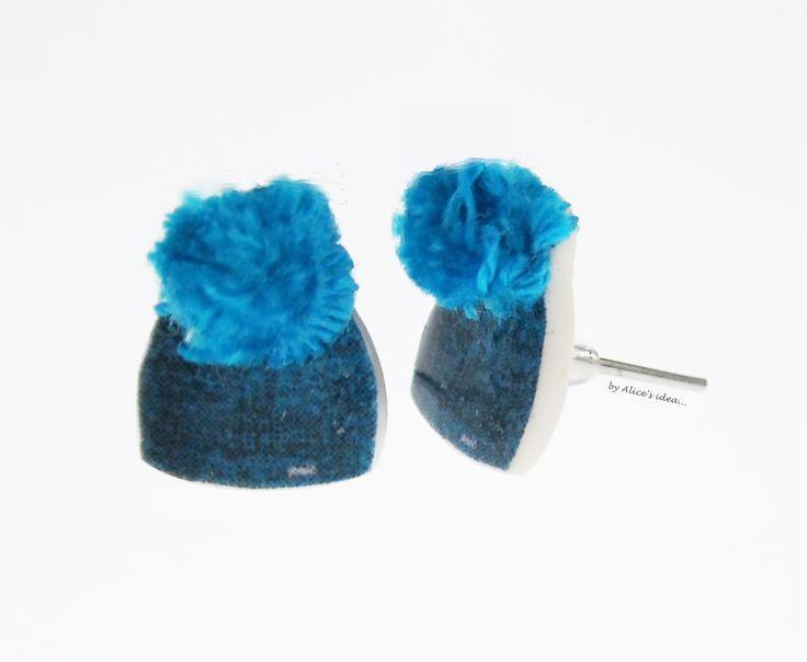 """Earrings ,,Hat""""... www.alicesidea.pl #earrings ."""