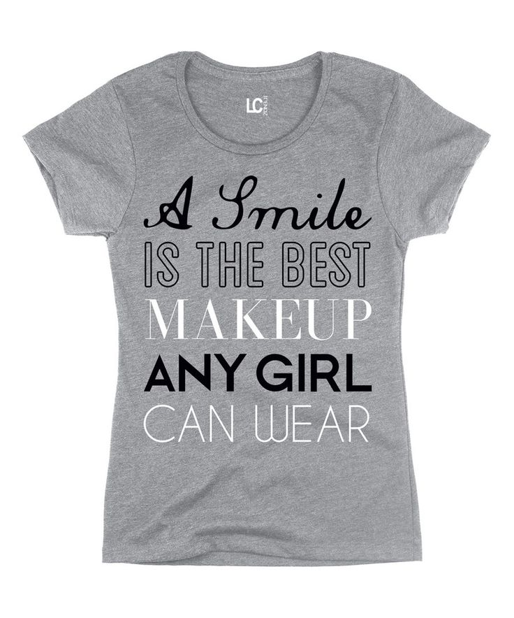 Look at this Heather Gray 'A Smile Is the Best Makeup' Tee on #zulily today!