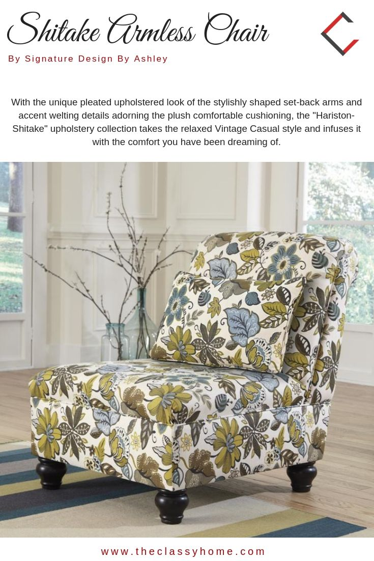 Ashley Furniture Hariston Shitake Armless Chair With Images