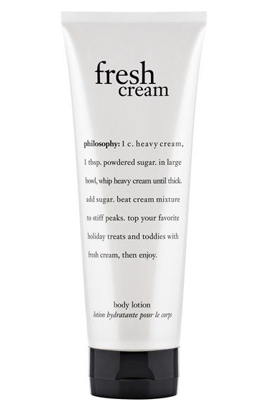 Free shipping and returns on philosophy 'fresh cream' lotion at Nordstrom.com. philosophy's fresh cream lotion moisturizes skin while draping it with a luminous, fresh cream scent. It's formulated with macadamia seed and olive fruit oils, shea butter and antioxidants to hydrate, soothe and soften, leaving skin feeling silky soft.