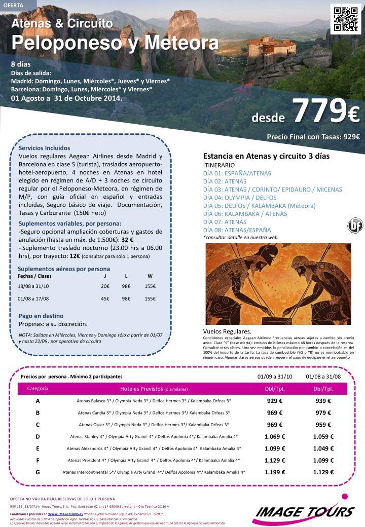 Vacaciones en GRECIA, Atenas y circuito con Meteora hasta Octubre, 8 días con visitas desde 779€ ultimo minuto - http://zocotours.com/vacaciones-en-grecia-atenas-y-circuito-con-meteora-hasta-octubre-8-dias-con-visitas-desde-779e-ultimo-minuto-2/