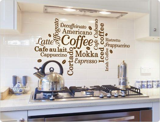 Fancy Wandtattoo Kaffee Nr