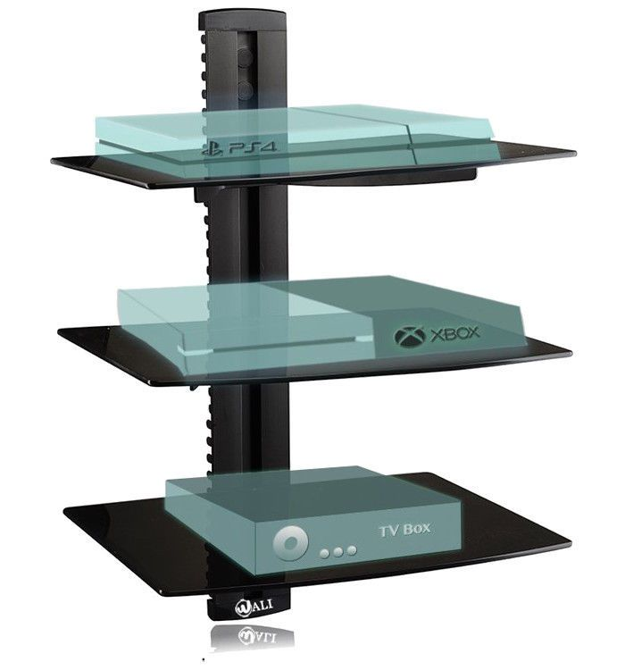 Floating Shelf TV Accessories CD DVD Player Cable Boxes Games Consoles Wall Shel #WALI #Contemporary