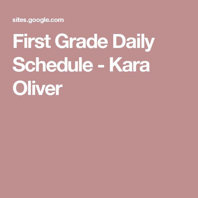 First Grade Daily Schedule - Kara Oliver