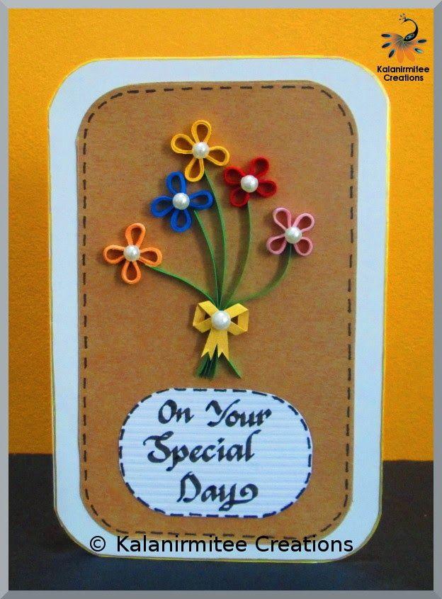 Simple Quilled Birthday Card - Visit http://www.kalanirmitee.com