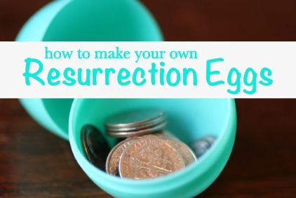 Make your own Resurrection Eggs to tell the Easter story with items you already have on hand...