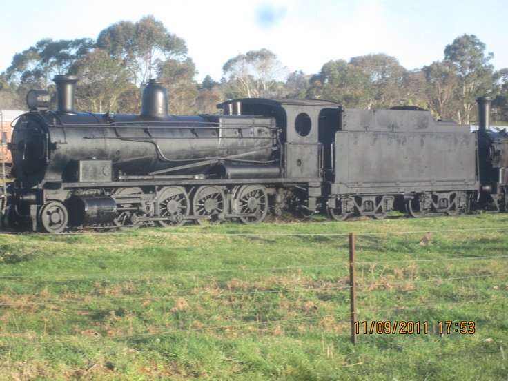 NSWGR Steam Engine sitting derelict in a field in Dorrigo NSW, Australia (approx 1hr west of Coffs Harbour)