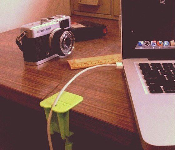 Cable Catcha Charger Clip – $15 #office #desk #table #desktop #cable #holder #smartphone