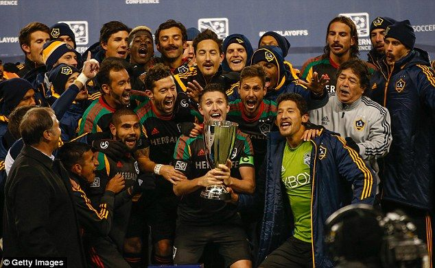 The former Premier League forward is all smiles after winning the Western Conference in 2014