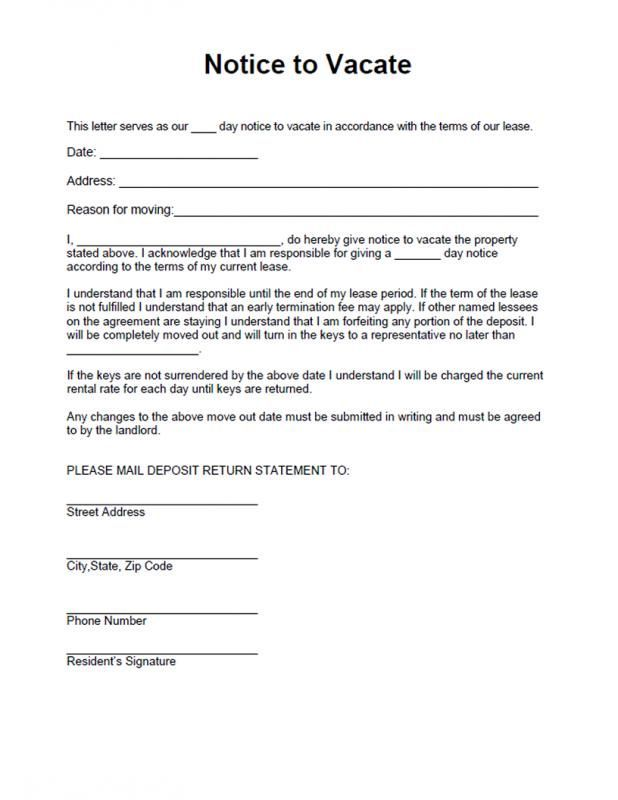 Eviction Notice Template Eviction Notice Being A Landlord