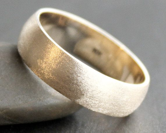 10K Solid Gold Ring  6mm Simple Band  Classic by sweetolivejewelry