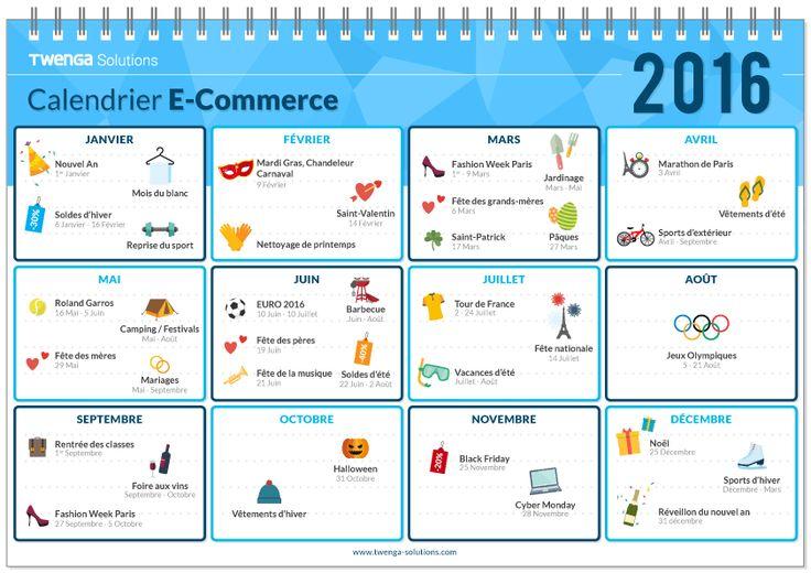 Soldes, manifestations sportives ou saisonnières, fêtes et opérations commerciales... tout est dans le calendrier e-commerce 2016