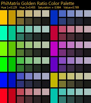 golden ratio color palette generator design rules phi
