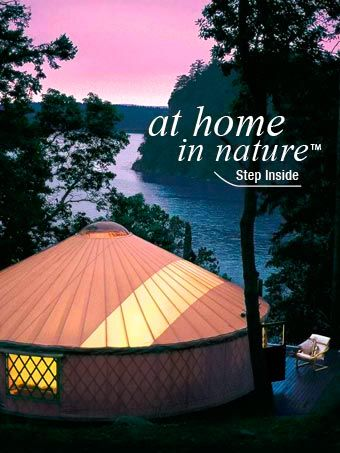 At home in nature - Pacific Yurts. We visited the company in Oregon & toured models. Awesome company and wonderful owners.