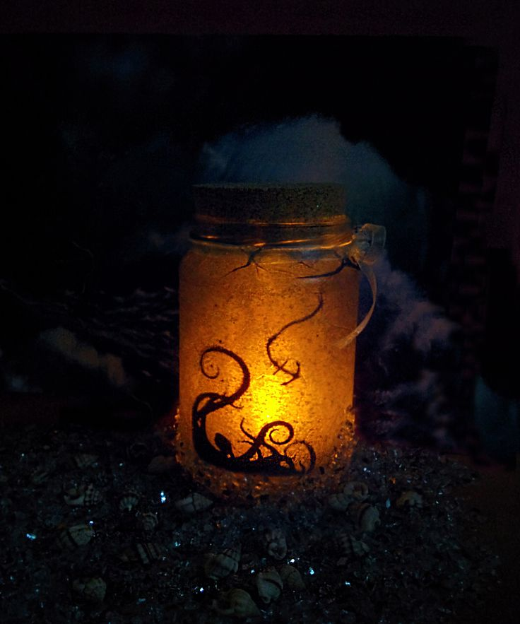 Deep Sea Jar, Kraken, nightlight