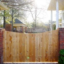 Use marbles to brighten up an ordinary wood fence!