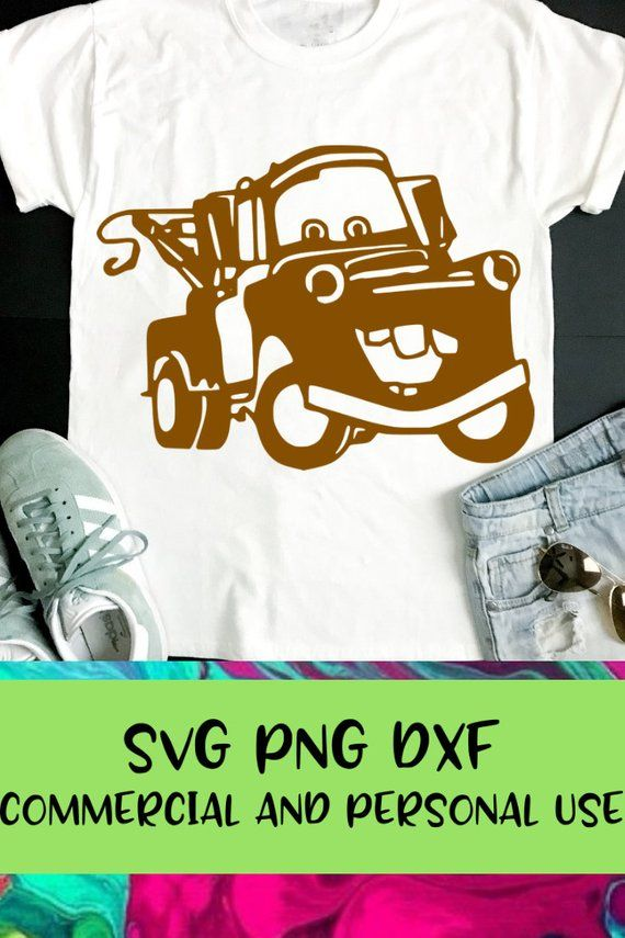 Tow Mater Svg Tow Mater Dxf Cars Movie Svg Cars