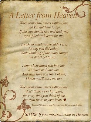 a letter to my husband in heaven daveswordsofwisdom search results for letter from 28807 | d33ae7ffb374bc0a6e52c45d50fcb408