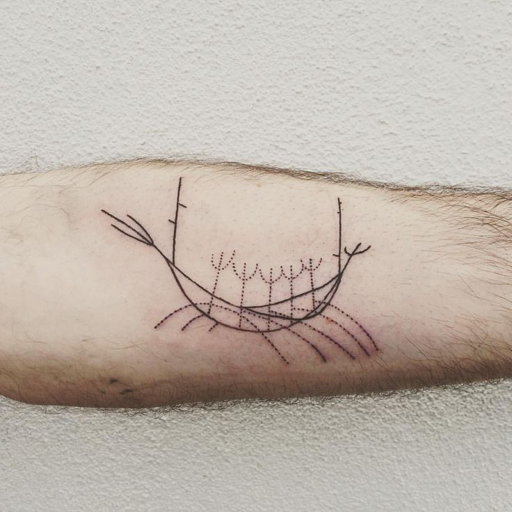 Simple and delicate Sólfar. Thank you Julien! . . . #tattoo #simple #solfarid #iceland #reykjavik #icelandtattoo #icelandtravel #tattooapprentice #sunvoyager