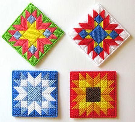 7 Fun Plastic Canvas Patterns | Muse of the Morning Crafty Kits, Wool Felt & PDF Sewing Patterns
