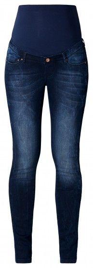 Tehotenské džínsy NOPPIES - modrá