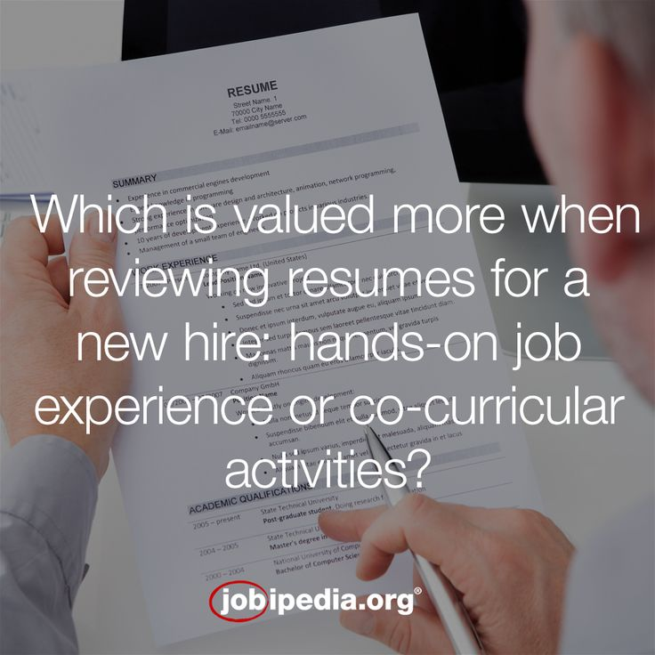 """Tom, a hiring expert from VF Corporation says, """"Most employers will be more interested in what you did outside of the classroom vs. in it.  We want to know how you have applied what you are learning/have learned and there are things that simply can't be learned in a classroom, only on a job or through some co-curricular activity..."""""""