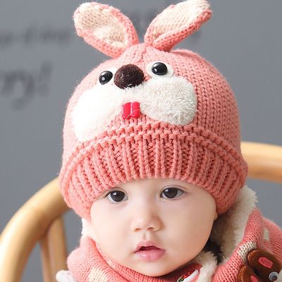 3D bunny hat for baby knitted animal hats 1 to 3 years old