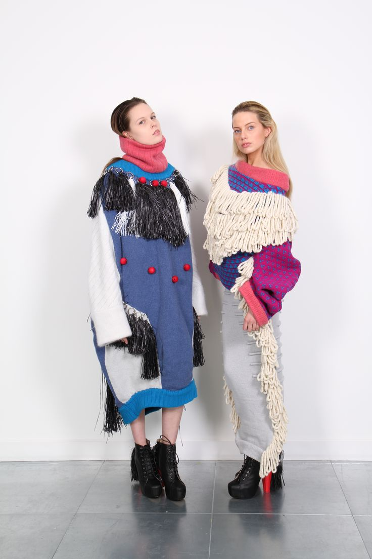 Chunky, oversized knitwear, fringing and tassels. The Lost Tribe. Jessica Deacon