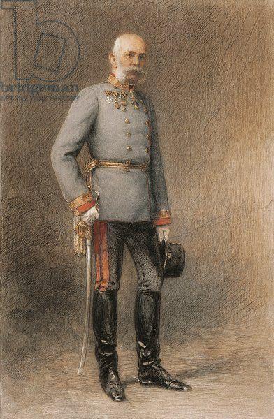 Austria, Vienna, Portrait of Emperor Franz Joseph I of Austria