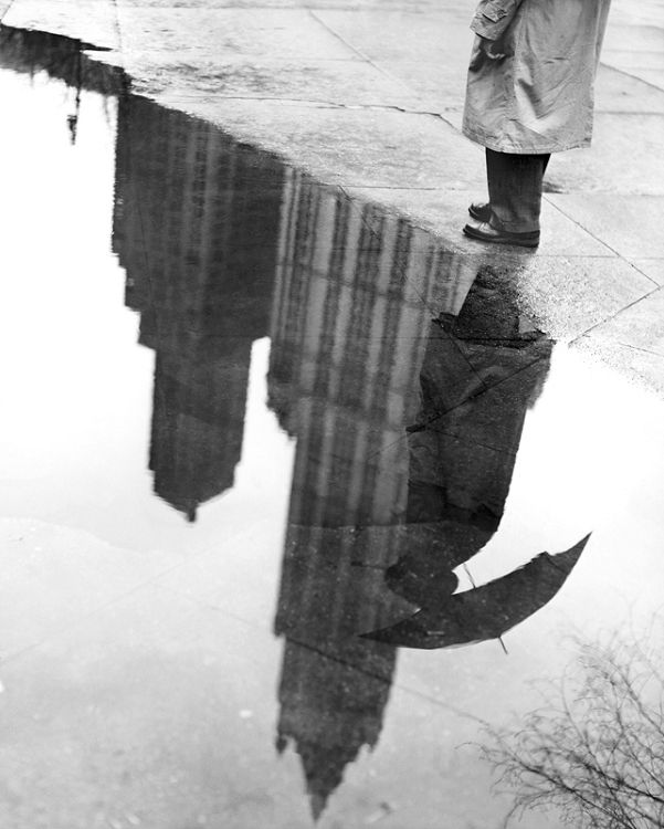 Best Reflection Images On Pinterest Empire State Building - Photographer captures the amazing reflections of puddles in new yorks streets