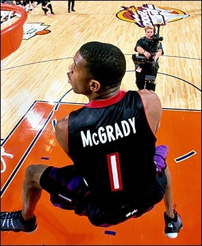 Tracy McGrady in Golden State, 2000.