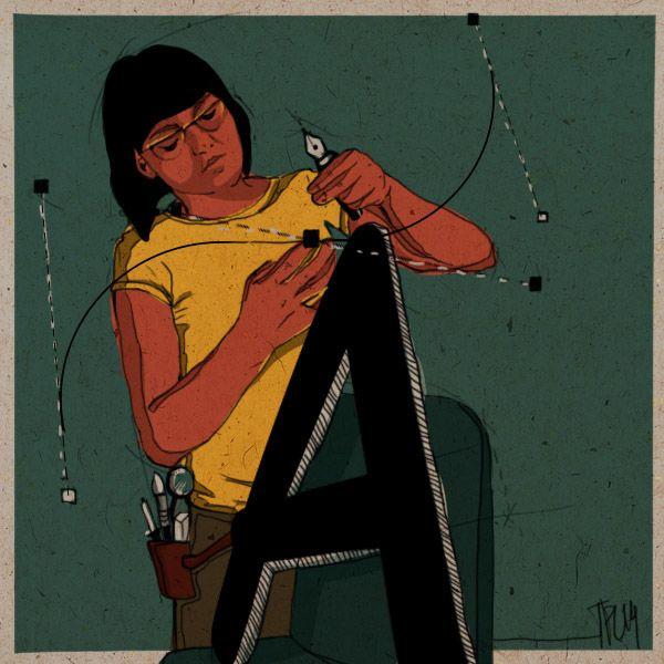 "Tiziana Pesenti ""Comic Sans is Beautiful"" project by Massoneria Creativa, on Behance"