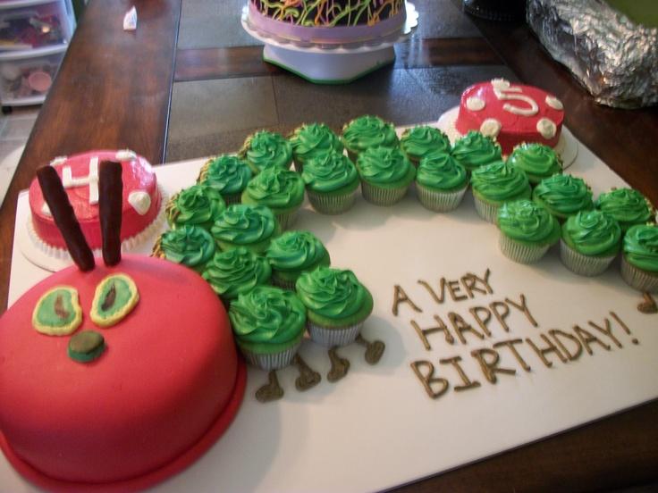 The Hungary Caterpillar Cupcake Cake