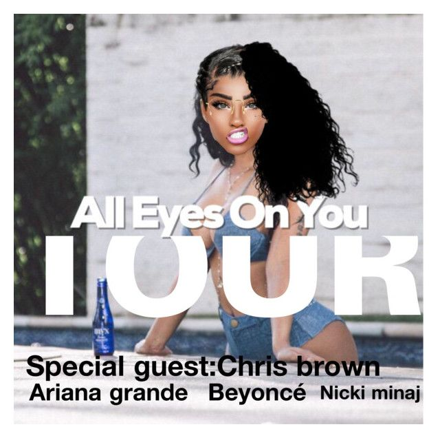 """My up and coming tour all eyes on you tour"" by badgirlriri2 ❤ liked on Polyvore featuring Nicki Minaj and Ray-Ban"
