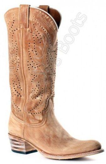 SUMMER COWBOY STYLE! Corbeto's Boots   9596 Debora Inca Oxido 036   Bota cowboy Sendra Boots caña alta calada para mujer   Sendra Boots ladies high leg openwork leather cowboy boots